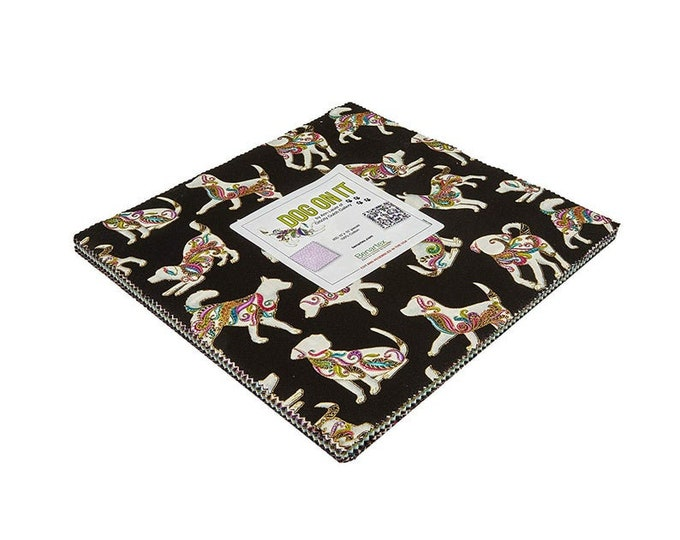 Dog on It Layer Cake by Ann Lauer for Benartex- DOG10PK
