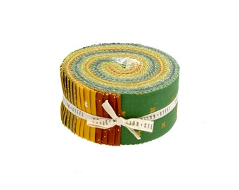 Cotton and Steel Lucky Basics Pixie Strips Spindle Strips Jelly Roll 40 2.5 Inch Strips Fabric