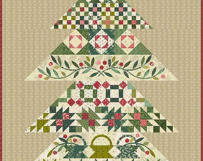 Tannenbaum Tree Edyta Sitar Laundry Basket Quilts Quilt Tree Pattern  46.5 x 64.5
