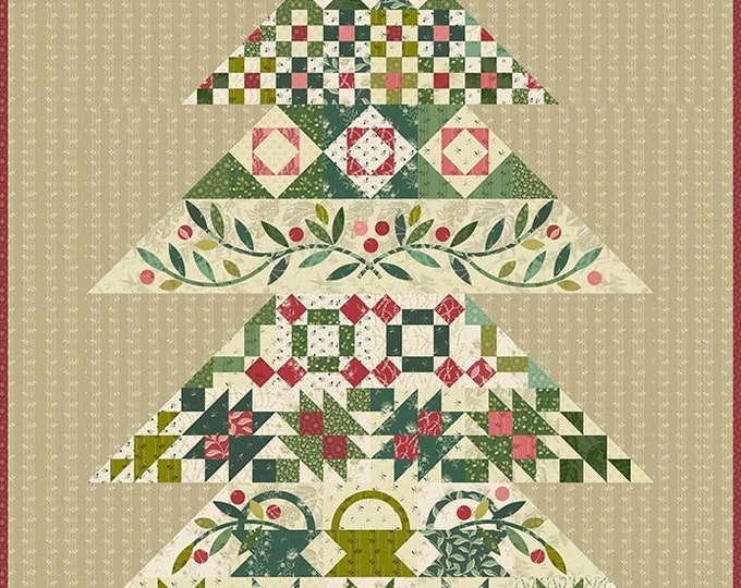 Tannenbaum Tree Edyta Sitar Laundry Basket Quilts Complete Fabric Quilt Kit 46.5 x 64.5 IN STOCK