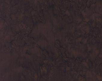 Hoffman 1895 Watercolors Solid Batik Fabric 1895-610 Cappuccino Dark Brown BTY