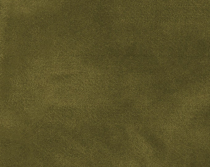 Maywood WOOLIES Color Wash Flannel Fabric Olive Branch Green 9200-G2 BTHY