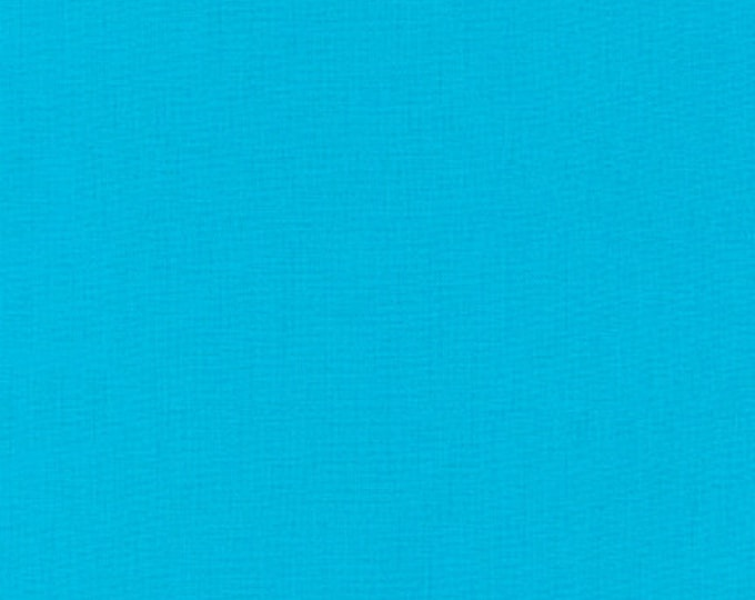 Robert Kaufman Kona Cotton Solids CYAN 151 Aqua Blue Fabric BTY