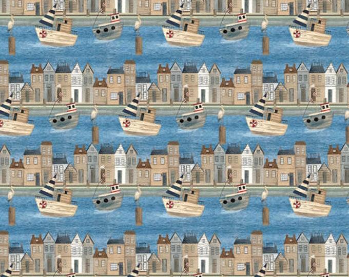Blank Quilting B-1157-75 Blue Port Town Pop Studios HARBORDAYS Fabric BTY 045945235261