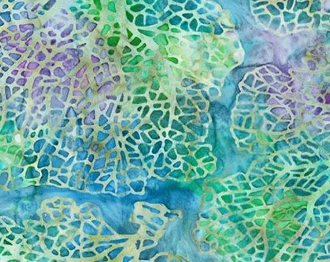 Mckenna Ryan Tiger Fish Water Sea Fan Blue Purple Green Batik Fabric 15741-246 BTY