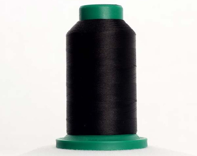 ISACORD Polyester Embroidery Thread Color 0020 Black 1000m