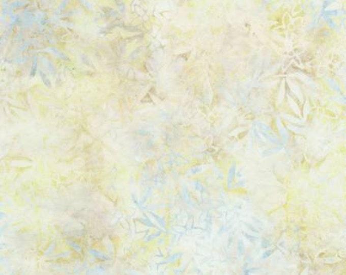 Timeless Treasures Tonga Batiks Cream Blue Yellow B5305 Breeze Leaf Batik Fabric BTY
