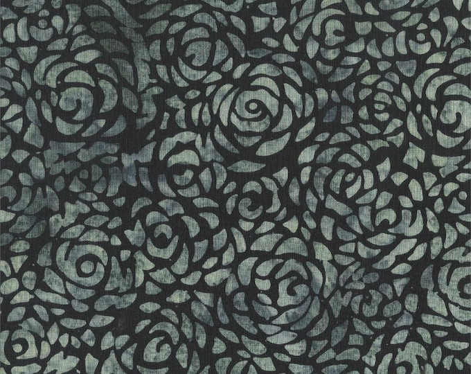 Anthology Art Inspired Cotton Batik Abstract Rose Gray Grey Cotton 108 WIDE Fabric 3 yard cut 601Q-7