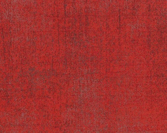 Moda Basic Grey Grunge Basics RED with Grey 30150-151 Fabric BTY