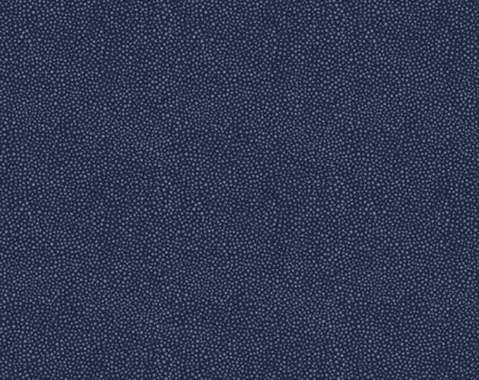 Free Spirit Kelmscott by Morris & Co. Seaweed Dot  - Navy Fabric PWWM008.NAVYX