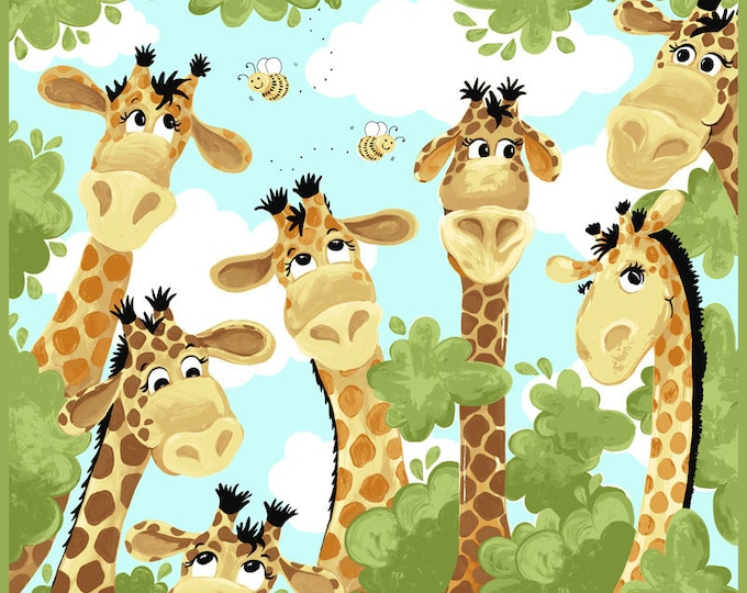 "Zoe The Giraffe Play Mat Panel 36"" x 44"" 100% Cotton By Susybee"