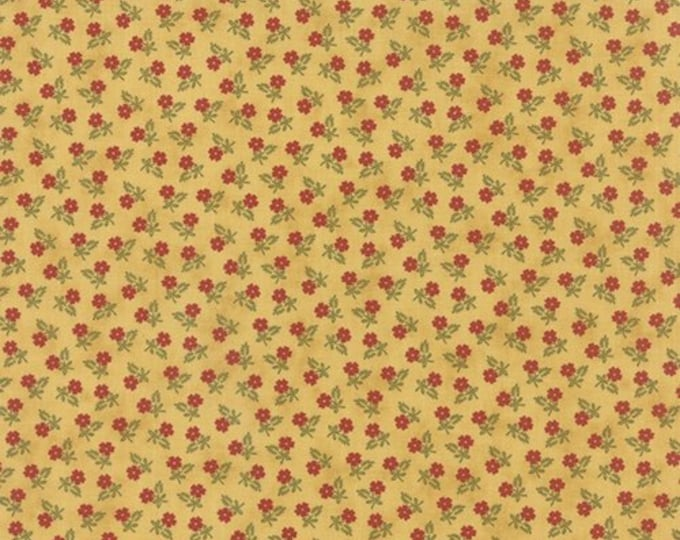 Moda Lillies of the Field Jan Patek Yellow Red Floral OOP Fabric 2153-12 BTHY
