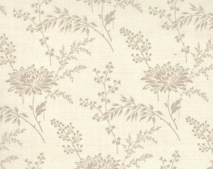 Moda French General Favorites Beige Cream Tonal Floral Flower Fabric 13527-14 BTY