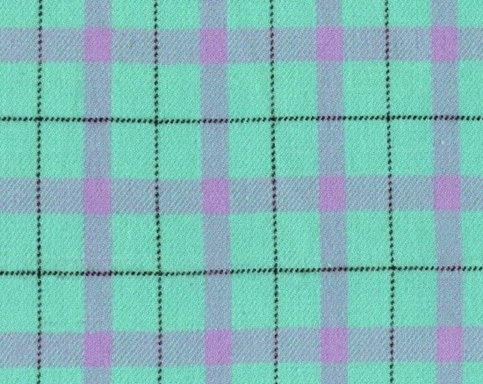 Marcus Primo Plaids Flannel Color Crush Mint Teal Purple Lavender Plaid Fabric 9772-0120 BTY