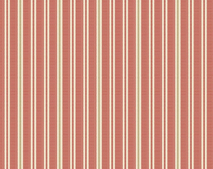 Andover Laundry Basket Quilts LBQ Edyta Sitar Little Sweetheart Red Pink Stripe Fabric A-8835-R BTY