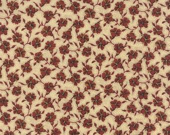 Moda Betsy Chutchian Lizzies Legacy Beige Cream Red Floral Civil War Fabric 31512-11 BTY