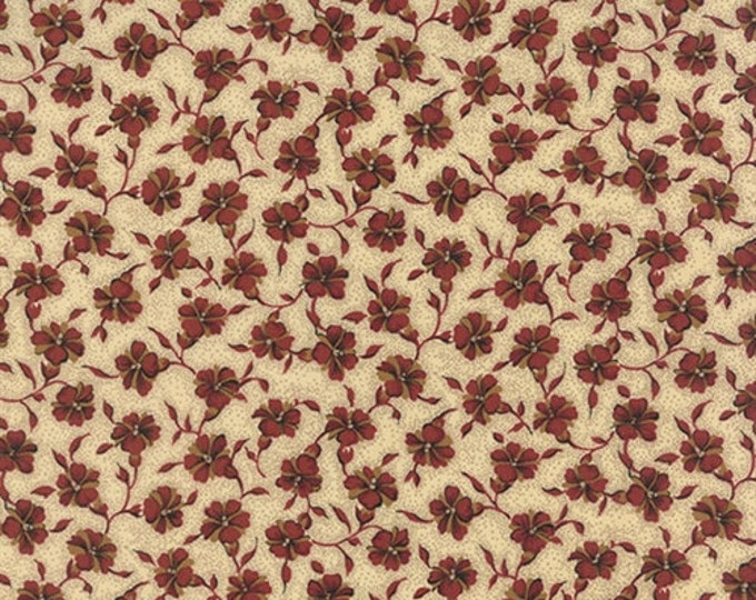 Moda Betsy Chutchian Lizzies Legacy Beige Cream Red Floral Civil War Fabric 31512-11 BTY