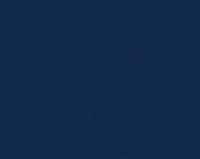 Robert Kaufman Kona Cotton Solids STORM 458 Dark Navy Blue Fabric BTY