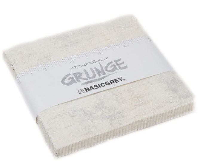 Moda Grunge Creme 30150-270 Neutral Background White Beige Cream 5 x 5 Modern Charm Squares Fabric