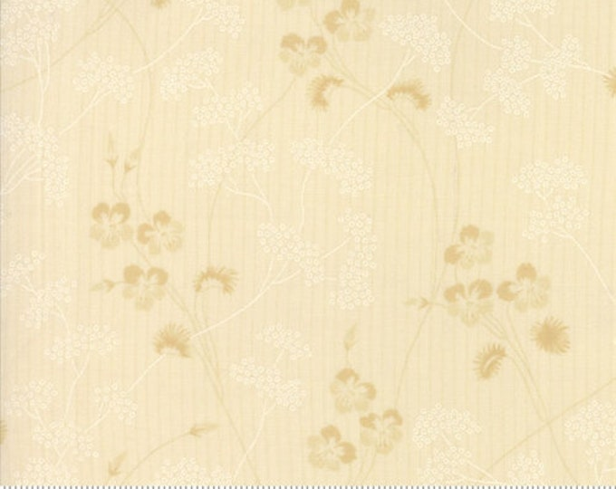 Moda Betsy Chutchian Hopes Journey Cream Beige Tonal Floral Flower Branch Fabric BTY 31531-11