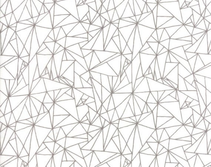 Moda Catnip Gingiber Cat Scratch Gray Grey White Geometric 48233-21 Fabric BTY