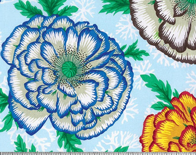NEW Free Spirit Kaffe Fassett Spring 2016 Henley Blooms Blue Floral PWPJ078.SKY Fabric BTY