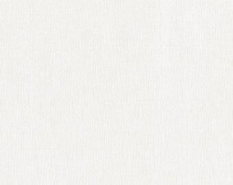Robert Kaufman Kona Cotton Solids SNOW 1339 White Cream Fabric BTY