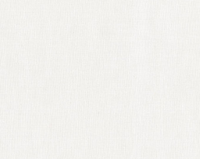 Robert Kaufman Kona Cotton Solids SNOW 1339 White Cream Fabric BTY