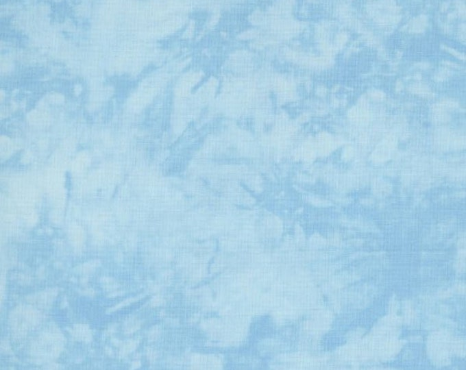 RJR Handspray Mottled Blue Ice Light Powder Sky Blue Tonal Fabric 4758-034 BTHY