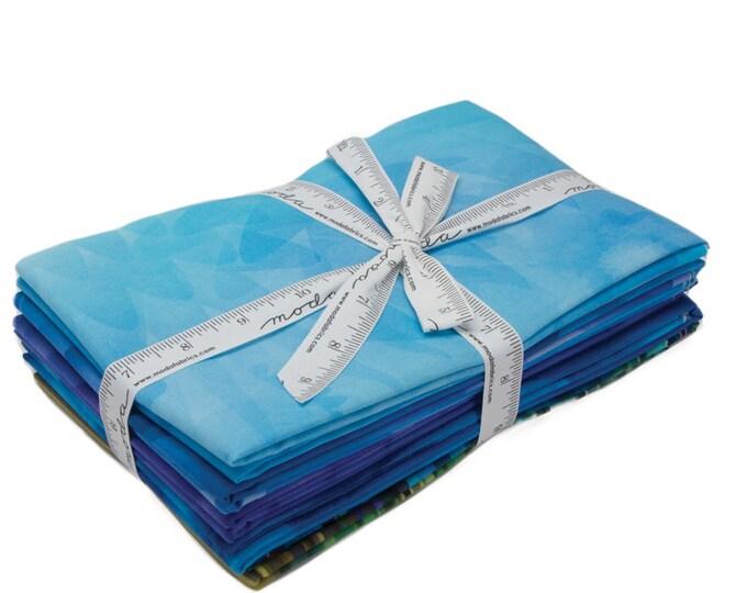 Moda Gradients Basics Blues Ombre Strip Rectangle Fabric 33360-YDB 5 Yds