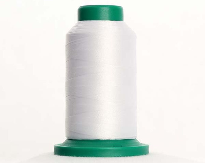 ISACORD Polyester Embroidery Thread Color 0015 White 1000m
