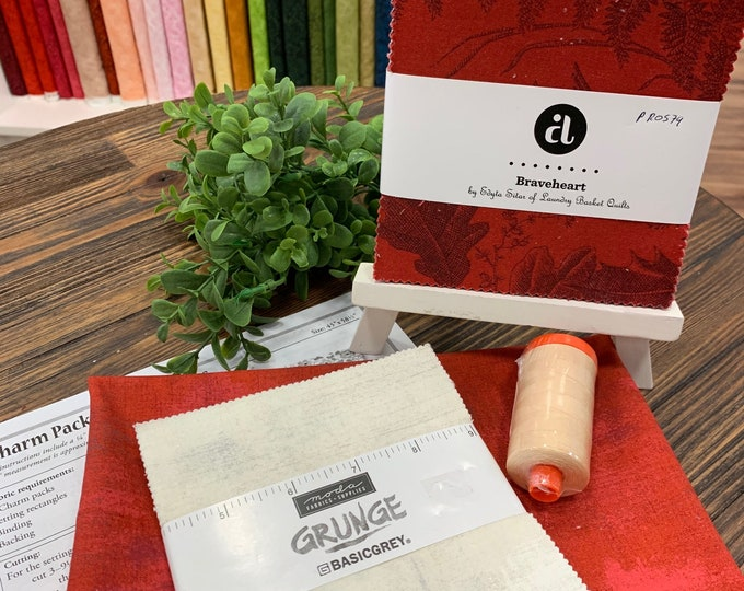 Quilting Quarantine Survival Kit  Red and Gray