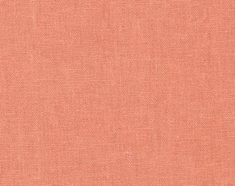 Kaufman Essex Linen Cotton Linen Blend Mango Light Orange Fabric 192 BTY