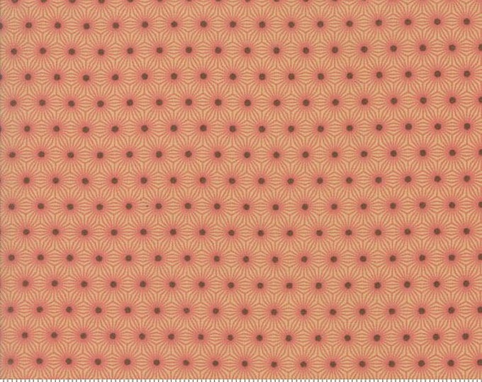 Moda Pumpkin Pie Prints Laundry Basket Quilts LBQ Pink Tan Brown Polka Dot Seeds Fabric BTY 42283-11