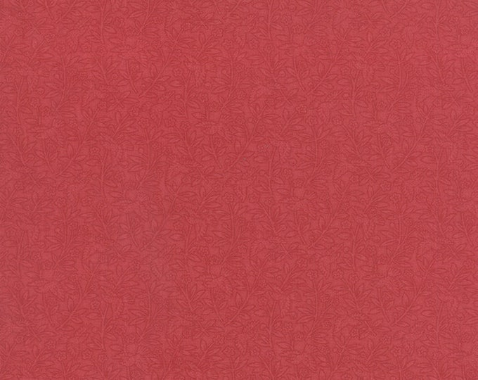 Moda 3 Sisters Favorites Red Tonal Bird Rose Floral 3 Sister's Shabby Fabric 3708-25 BTY