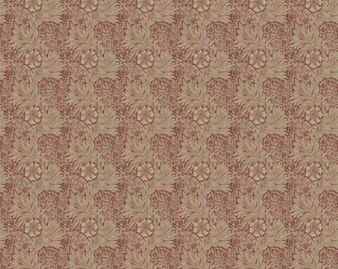 Free Spirit Kelmscott by Morris & Co. Marigold Red Beige Tan Floral Leaf Flower Fabric PWWM006 BTY