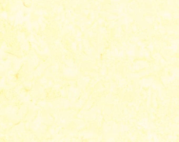 Hoffman 1895 Watercolors Solid Batik Fabric 1895-500 Gardenia Cream Yellow BTY