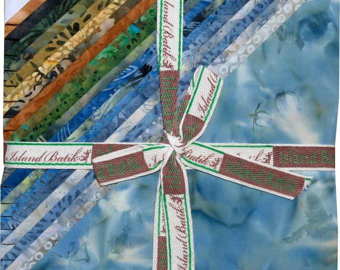 "Island Batik Lake Life Blue Gold Green Batiks Stack Layer Cake 42 10"" Squares"