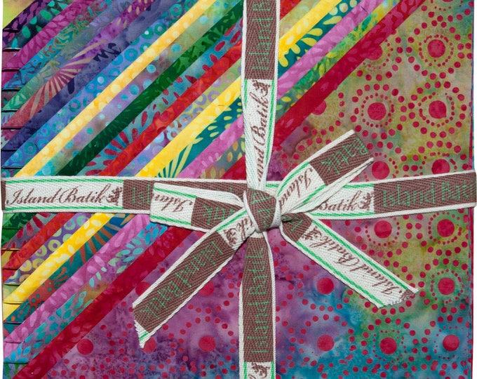 """Island Batik Lake Sweet Nectar  Pink Green Blue Purple  Fabric Stack Layer Cake 42 10"""" Squares"""