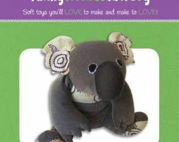 """Kiki KOALA 4248 Stuffed Toy Sewing Pattern 10""""/26cm- Funky Friends Factory"""