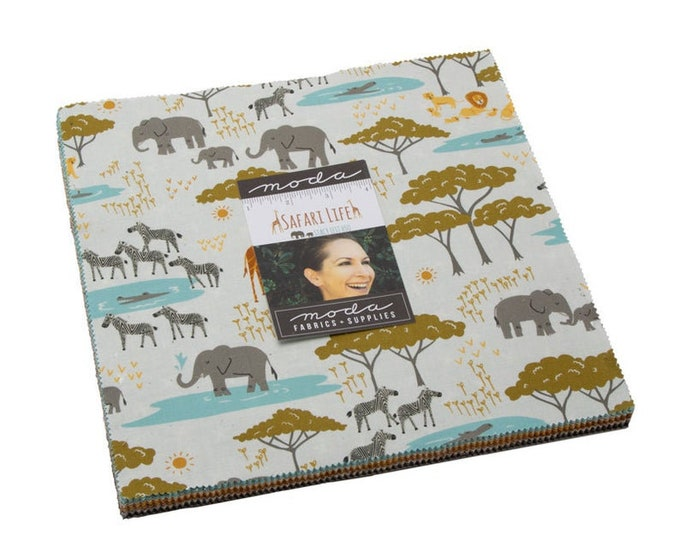 "Safari Life 10"" Layer Cake by Stacy Iest Hsu for Moda -20640LC"