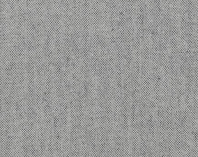 Kaufman Shetland Flannel Grey Gray Silver Cream Weave Fabric 14770-12 BTY