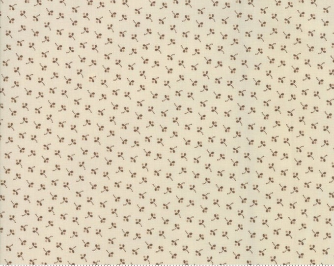 Moda Jos Shirtings by Jo Morton Cream Beige Brown Floral Civil War Fabric 38042-23 BTY