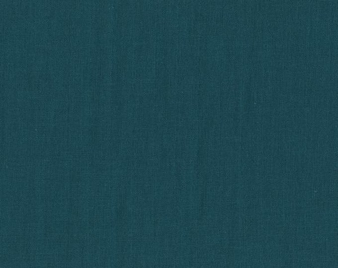 BeSpoke INDIGO Teal Blue Solid Double Gauze Lightweight Cotton and Steel Fabric 31 Inches