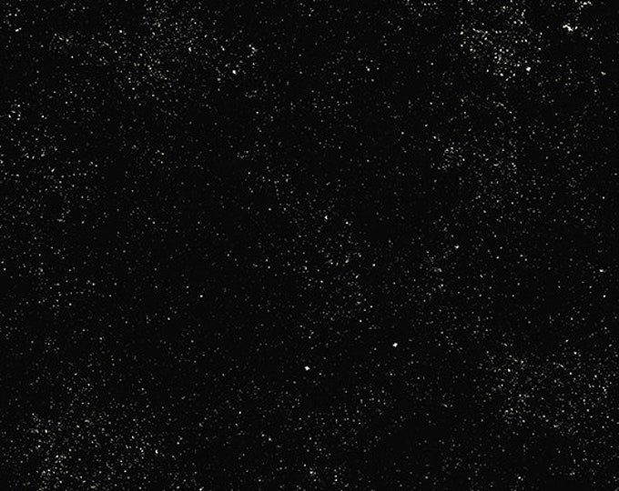 Andover Declassified Spectrastatic Giucy Giuce STELLAR Black White Speckle Static Dot Fabric BTY 9248-K