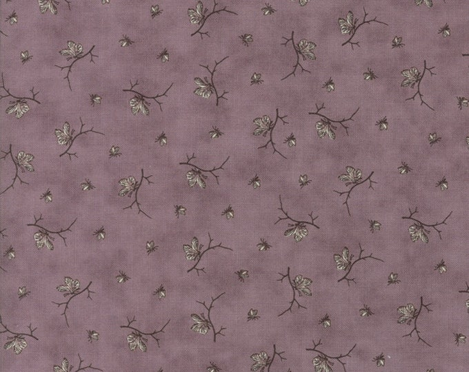 Moda 3 Sisters Quill Tonal Violet Purple Floral Butterfly  Branch Fabric 44157-17 BTY