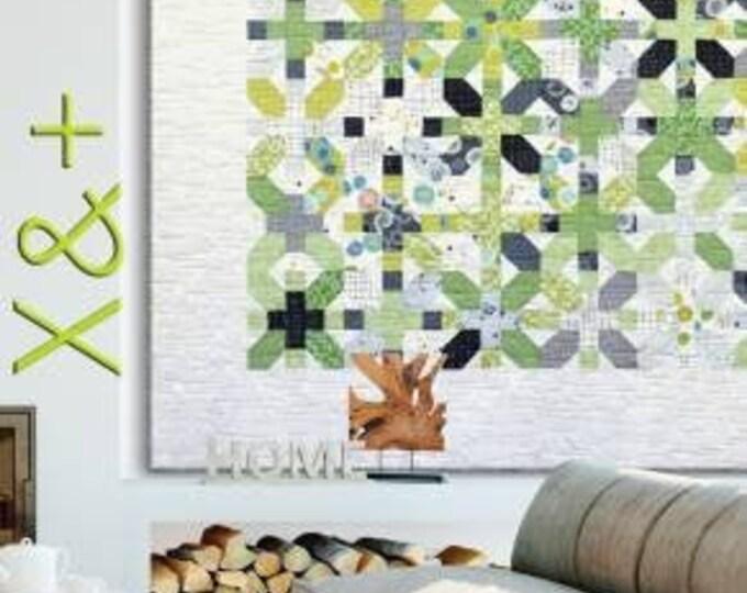 ZEN CHIC X & + Fat Quarter Friendly Modern Quilt Pattern 83 x 83
