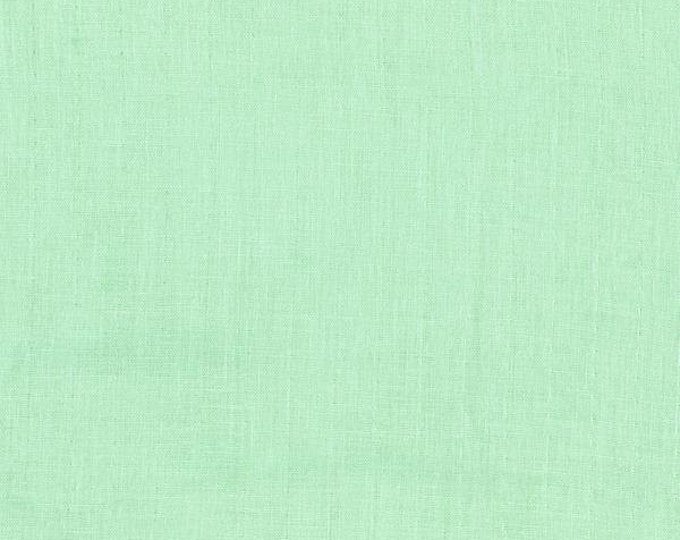 BeSpoke NATURAL Mint Solid Double Gauze Lightweight Cotton and Steel Fabric BTY