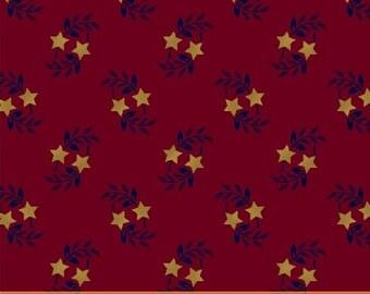 Windham Freedom Bound Star Leaf Red Cream Navy Civil War 41974-2 Fabric BTHY