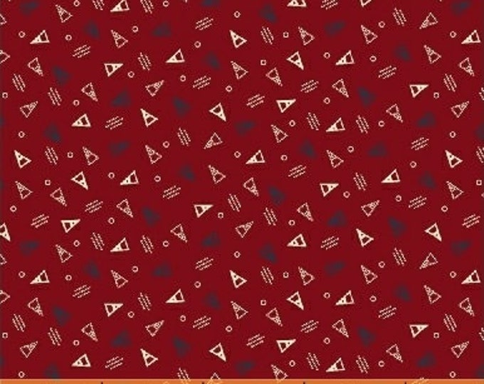 Windham Clayton Nancy Gere Orange Red with White Black Triangles Civil War Reproduction 43410-6 Fabric BTY